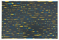 untitled (horizontal brushstrokes) by sol lewitt