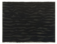 untitled (zig zag horizontal bands in black) by sol lewitt