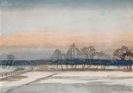 winterlicher atelierfensterblick by christian modersohn
