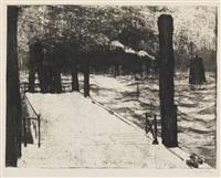 hamburg, landungsbrücke by emil nolde