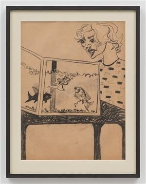 woman and aquarium by john tweddle