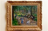 parc monceau gardens, paris by alice dannenberg