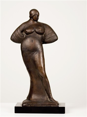 standing woman with arms behind back (jrfa 10571) by gaston lachaise