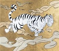 white tiger by yoshitaka amano