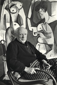 picasso in rocking chair by david douglas duncan