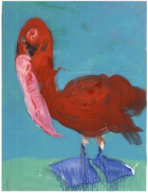 red pelican by rainer fetting