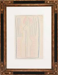 femme nue debout (portrait françoise gilot) by pablo picasso