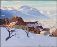 lot # 121: paysage de charlevoix by clarence alphonse gagnon