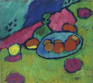 stilleben mit obstschale / still life with fruit bowl by alexej jawlensky
