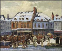 lot # 119: market place by robert wakeham pilot