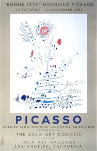 lot 375: bonne fete monsieur picasso by pablo picasso
