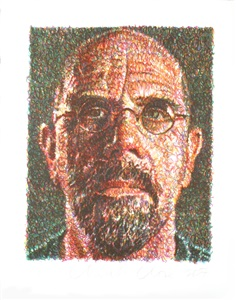 pop art auction 1960 to date by chuck close