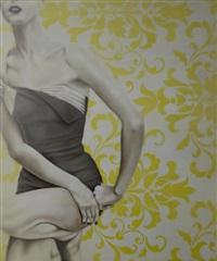 kneeling girl by jhina alvarado