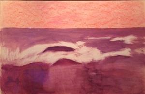 untitled (burgundy landscape) by milton avery