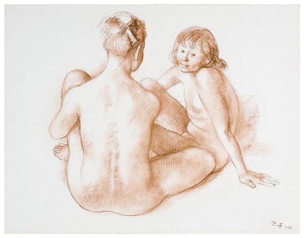 desnudos de jovenes (young nudes) (jrfa 9459) by francisco zúñiga