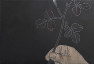 hand and twig by derrick greaves