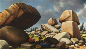 study for boulders of avila by peter blume
