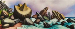 study for crashing surf by peter blume