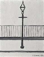 lamppost by laurence stephen lowry
