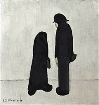 two people by laurence stephen lowry