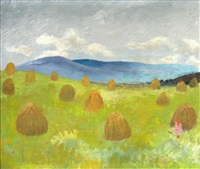hayfield by winifred nicholson