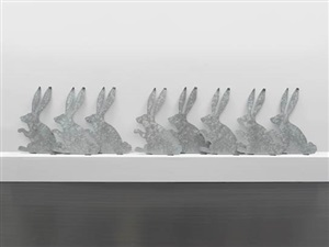 rabbits (galvanizing) by marc ganzglass
