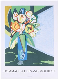 lot 218: peonaes & tulips by françoise gilot