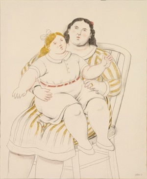 mother and daughter by fernando botero