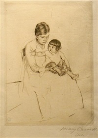 the stocking by mary cassatt