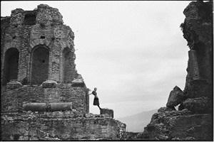 amphitheater, taormina, sicily by arthur elgort