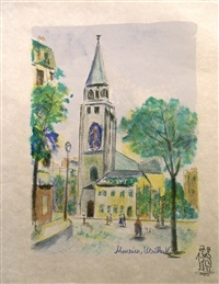 church in paris by maurice utrillo