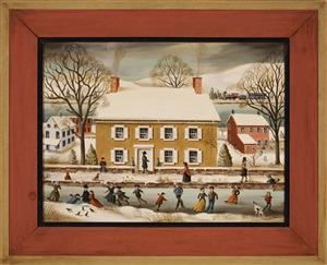 skating on the canal, new hope by jean h. halter