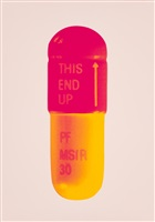 the cure - powder pink/lollypop red/golden yellow by damien hirst