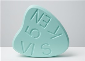 visken 5 (mint) by damien hirst