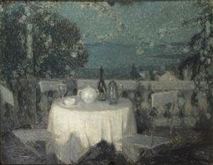 table au clair de lune by henri le sidaner