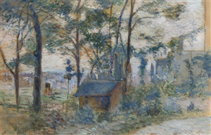 la cabane du cantonnier by paul gauguin
