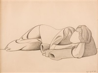 reclining figure by george copeland ault