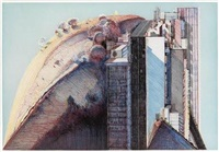 country city by wayne thiebaud