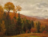 autumnal landscape: near kauterskill clove by worthington whittredge