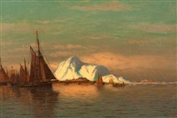 whalers off an artic village by william bradford