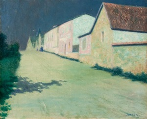 evening in giverny by john leslie breck