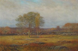 autumn fields by dwight william tryon