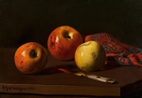 still life of apples by andrew john henry way