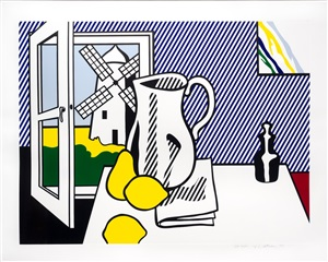 still life with windmill by roy lichtenstein