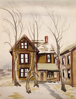 frosted windows by charles ephraim burchfield