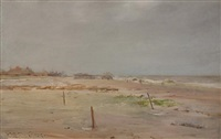 brighton beach, long island by william merritt chase