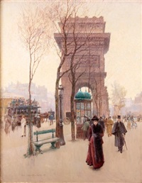 place de l'étoile, paris by paul cornoyer