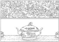 pollock and tureen (traced) by louise lawler