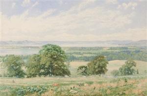 scene along the hudson by john william hill