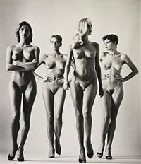 sie kommen (naked) paris by helmut newton